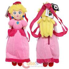 "Super Mario Princess Peach Plush Doll Backpack Nintendo Cosplay Costume Bag19"""