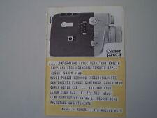 advertising Pubblicità 1964 CANON PRORA
