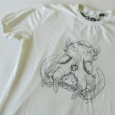 FCUK French Connection Men's Short Sleeve T-Shirt Animal Head LG