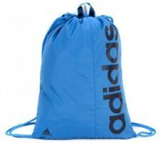 Adidas Azul Lineal De Bolsa De Deporte Con Cordón Mochila Morral Azul Marino Sports Gym Escuela