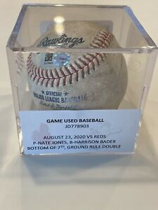 MLB Authenticated-Harrison Bader DOUBLE Off Nate Jones-Dylan Carlson 1st HR Game