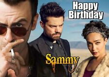 PREACHER TV spoof Personalised Happy Birthday Greeting Art Card Dominic Cooper