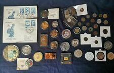 Konvolut - Medaillen alte Münzen - mit echt Gold und Silber - Barren - Lot