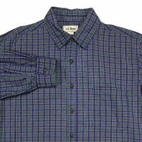 VTG LL BEAN MADE IN USA MENS LONG SLEEVE PLAID BUTTON DOWN VINTAGE SHIRT L - REG