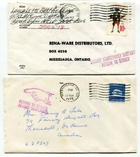 Canada / USA 1975 Postal Strike - Mail Service Suspended - Pair of Covers # 1