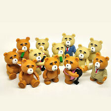TED Teddy Bear Action Figure Figurines Toy Cake Topper Decor Kid Men Collection