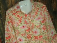 VTG top 90's The Tog Shop Floral Print Blouse Boho Padded Shoulder M/L polyester