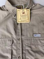 Joe Marlin Men Shirt Vented Fishing Short Sleeve 100% Nylon Large L 36/38 New