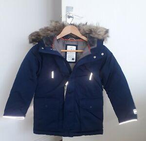 Gap Boys French Navy Fur Hooded Coat 6-7