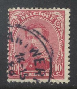 Belgium 1915 10c red used