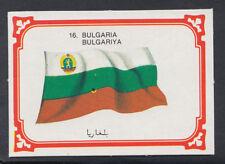 Monty Gum 1980 Flags Cards - Card No 16 - Bulgaria   (T666)