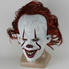It Pennywise the Dancing Clown Halloween Scary Evil Mask One Size Latex Red Hair