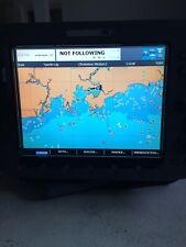 Raymarine E120 Chart Plotter with sunscreen, bracket and power cord