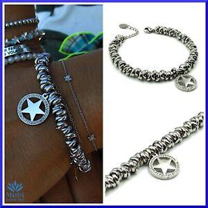 Bracciale donna con ciondolo stella in acciaio inox da catena nodi braccialetto