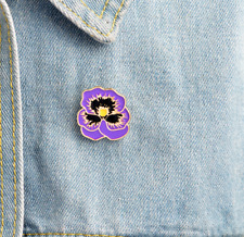 Purple Flower Floral Enamel Pin. Badge/Brooch Vintage/boho DIY Accessory Gift