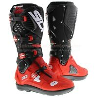 Sidi Crossfire 3 SRS Offroad Motorcycle Boots, Black Red, Fast 'N Free Shipping