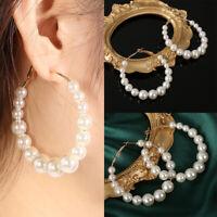 bijoux laisse mariner oreille étalon de forme ronde élégant boucles de perles