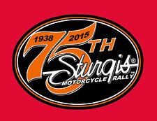 2015 STURGIS RALLY 75th Anniversary Logo 4 inch BIKER PATCH
