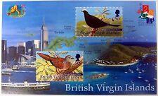 2001 BRITISH VIRGIN ISLANDS BIRD STAMPS MINIATURE SHEET YEAR OF THE SNAKE DOVE
