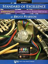 """Kjos """"Standard Of Excellence Enhanced"""" Flute Music Book 2 W/Access Brand New!"""