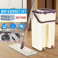 Wischmop Mopp und Eimer Set Wischbezug Putzlappe Bodenwischer 2-8 Mikrofaserpad