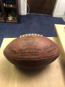 Rare Vintage Wilson The Duke NFL Football Pete Rozelle 60's (Read Description)
