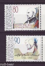 Liechtenstein nº 1013-14 ** Ignatius de Loyola Wolfgang Amadeus Mozart