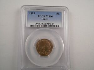 1913  Buffalo Nickel Tyoe 1 PCGS MS-66, Beautifully colored, Rotated Reverse