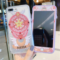 Anime Print Phone Case+Tempered Glass Screen Protector for iPhone XR 6 7 Xs Max