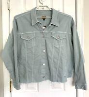 Lauren Ralph Lauren Womens Cut-Off Denim Jacket Plus Size 3X English Blue NEW