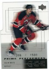 00-01 UPPER DECK ICE ROOKIE RC #59 COLIN WHITE 1206/1500 DEVILS *47966