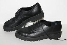 Moda Spana a la Mode Loafers, Black, Leather, Women's US Size 7.5