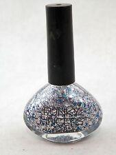Funky Fingers Love Park Silver Glitter Nail Polish Manicure Pedi Blue Sparkle