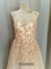 Bespoke Couture wedding gown/ ballgown/ formal gown rose gold sz 10-12 Free Post