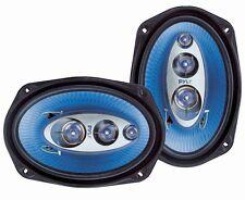 Pair of New Pyle PL6984BL 6''x 9'' 400 Watt Four-Way Speakers Car Marine Audio
