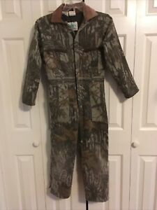 Boy's Liberty Rugged Outdoor Gear Camouflage Zip Up Quilted Jumpsuit Size 12