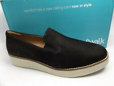 SoftWalk Whistle Slip On Loafers Women's Shoes SZ 12.0 WIDE, Black, NEW, 12784