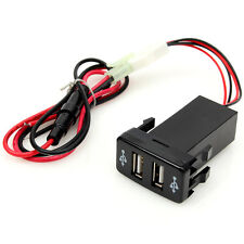 Twin dual double port 2 usb voiture 12V prise allume cigare chargeur adaptateur toyota CP48
