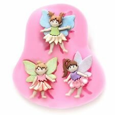Silicone 3D Fairy Elf Figure Fondant Mould Cake Decor Sugarcraft Chocolate Mold