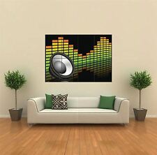 SPEAKER & EQUALIZER DJ NEW GIANT POSTER WALL ART PRINT PICTURE G394