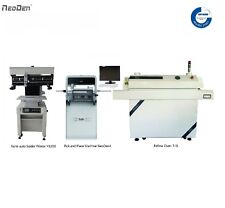 Auto SMT Line NeoDen Pick and Place Machine Vision System+Solder Printer+Oven