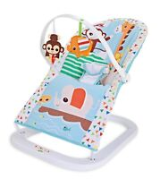 Premium Noah's Ark Baby Rocker Animal Bouncer Chair Seat With Soothing Music