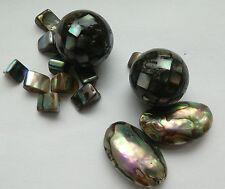 14 natural Paua/ABALONE SHELL Cuentas, fabricación de joyas/abalorios/Adornar/Crafts