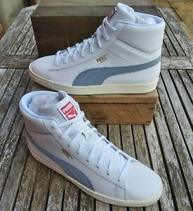 Adidas Men's Basketball Mid Raw Retro Leather Trainers, Size 11, White, RRP £80
