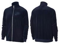 Nike Sportswear Velour Track Jacket Zip Obsidian Blue AH3386-451 New SALE