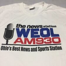 WEOL AM 930 Radio Large White T-shirt News Sports Station Ohio Lorain County