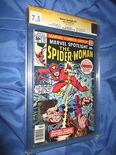 MARVEL SPOTLIGHT #32 CGC 7.5 SS Signed Stan Lee ~ 1st Spider-Woman (Spiderman)