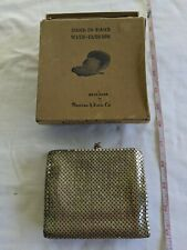 Vtg Whiting & Davis Purse Expandable Silver Mesh Beggers Bag  in Box Gently Used