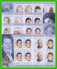 ROMANIA 2014 FAMOUS ACTORS x12 M/S MNH CV$48.00 THEATER, CINEMA, ZODIAC (LAT2)