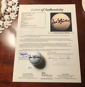 Jack Nicklaus Signed Golf Ball & Full JSA Letter of Authenticity Masters 6x